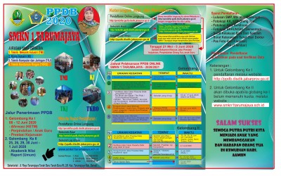 Penerimaan Peserta Didik Baru (PPDB) SMKN 1 Tarumajaya Tahun 2020/2021